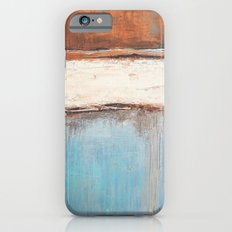 Copper and Blue Abstract iPhone 6 Slim Case