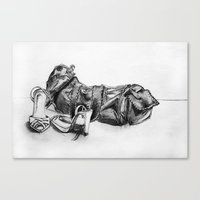 Hand Drawn Shoes Canvas Print