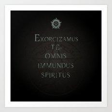 Exorcizamus te Art Print