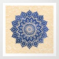 mandala Art Prints featuring ókshirahm sky mandala by Peter Patrick Barreda