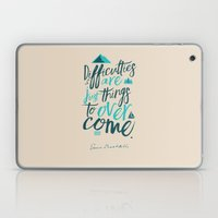 Shackleton Quote on Difficulties - Illustration Laptop & iPad Skin