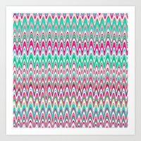 Making Waves Pink and Preppy Art Print