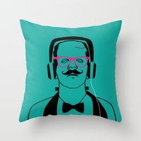 Hipsterstein Throw Pillow