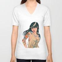 tattoo girl  Unisex V-Neck