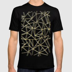 Ab Gold and Silver SMALL Black Mens Fitted Tee
