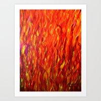 Flames/abstract Art Print