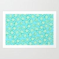 Wallflower - Tea Teal Art Print