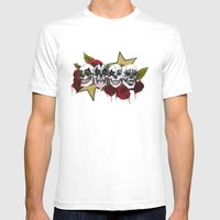 Rock 'n' Roll All Night Mens Fitted Tee White SMALL