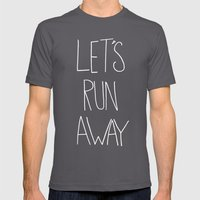 Let's Run Away To NYC Mens Fitted Tee Asphalt SMALL