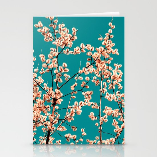 willow catkin II Stationery Card