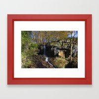 Waterfall At Lumsdale Framed Art Print