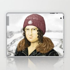 Mona Lisa in winter Laptop & iPad Skin