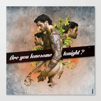 Are you lonesome tonight? Canvas Print