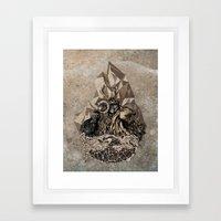 When nature strikes back  Framed Art Print
