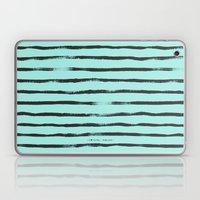 Thin Brush Stripe Turq Laptop & iPad Skin