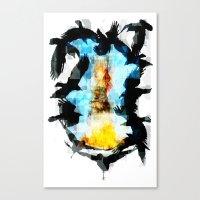 Twelve Crows Canvas Print