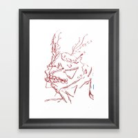 Ancient Man Framed Art Print