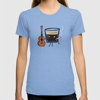 Espresso Womens Fitted Tee Tri-Blue SMALL