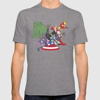The Catvengers - Earth's… Mens Fitted Tee Tri-Grey SMALL