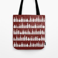 Bottles Red Tote Bag