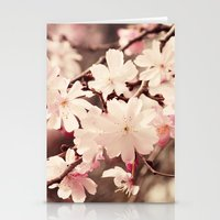 cherry blossom Stationery Cards featuring Cherry Blossom by Erin Johnson
