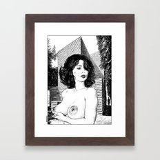 asc 345 - La muse secrète de Monsieur HTL (Mr. HTL's secret muse Framed Art Print