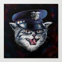 Police Cat Canvas Print