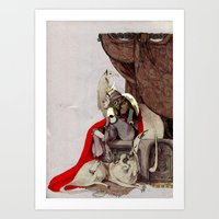 dogs Art Prints featuring dogs by chechula