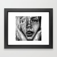 + FRECKLES + Framed Art Print