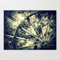 Tailing Wheels I Canvas Print