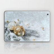 Silver Gold Ornaments Laptop & iPad Skin