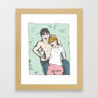 Iggy Pop and Debbie Harry Framed Art Print