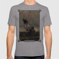 The Angel And The Skull Mens Fitted Tee Athletic Grey SMALL