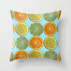 Lemons, Limes, Oranges, Oh my!  Citrus Photography Throw Pillow