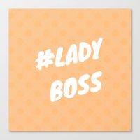 #LADYBOSS Canvas Print