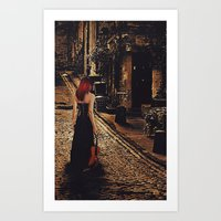 Soloist - Solitary Woman with Violin Art Print