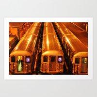 New York Queens Subway 7… Art Print