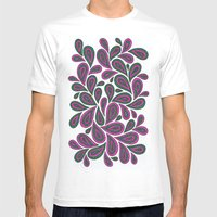 Pink And Green Mens Fitted Tee White SMALL