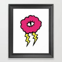 Lily Lightning Framed Art Print