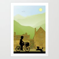 Childhood Dreams, Special Delivery Art Print