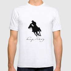 Cowboy Outlaw Mens Fitted Tee Ash Grey SMALL
