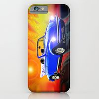 iPhone & iPod Case featuring 70 VW Super Beetle by JT Digital Art