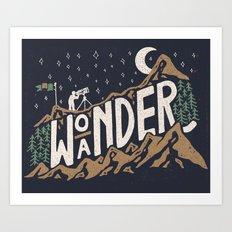 Wo/aNDER Art Print