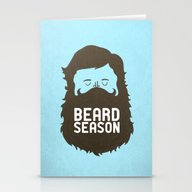 Stationery Cards featuring Beard Season by Chase Kunz