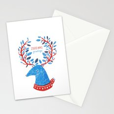 Reindeer Seasons Greetings Stationery Cards
