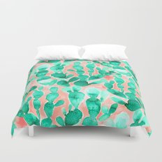 Paddle Cactus Blush Duvet Cover
