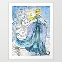 The Cold Never Bothered … Art Print