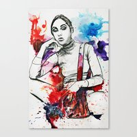 Gray Ana Canvas Print
