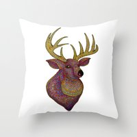Darling, Detailed Deer Throw Pillow