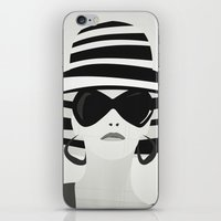 Snapshot (black & white) iPhone & iPod Skin